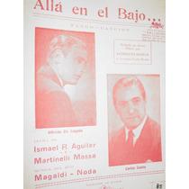 Partitura Musica Tango Alla En El Bajo Magaldi Aguilar Massa