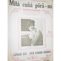 Partitura Cancion Paraguaya Mita Cuña Pora Mi Diaz Redonnet