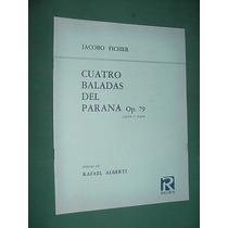 Partitura Ricordi Baladas Parana Ficher Rafael Alberti Piano