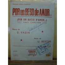 Por Un Beso De Amor. Vals Cancion. Vasin. Bertini. Partitura