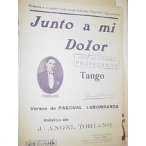 Partitura Musica Tango Junto A Mi Dolor Labombarda Toriano