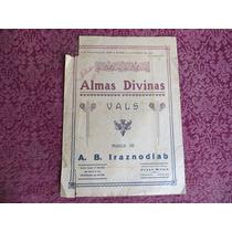 Almas Divinas, Vals A. B. Iraznodlab Partitura