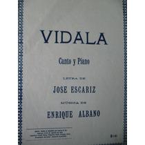 Partitura Vidala Canto Y Pisno