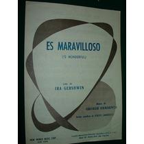 Partitura Maravilloso Wonferfull Gershwin New World Music