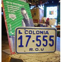 Antigua Patente Colonia Uruguay 17-555 Hermoso Numero (3953)