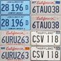 Par De Chapa Patente Misma Numeracion Origin Estados Unidos