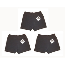 Set 3 Shorts Algodón Lycra Gimnasia Hockey Voley Cestob