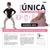 Uniforme Ballet Danza Malla Petit Glissade + Falda + Medias