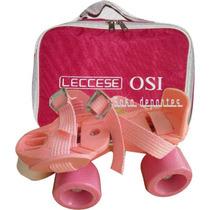 Patines Leccese Rosa + Rodillera Envios Tienda Oficial