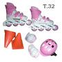 Roller Rosa +casc Code Rodille Talle 32 / Open-toys Avell121