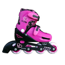 Rollers Kids Set Talle 27-30 P/ Nena Color Rosa/negro