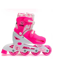 Rollers Stark Rosa Kit Mochila Protecciones