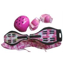 Waveboard Rosa Set Casco+code+rodi+bolso / Open-toys 21