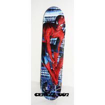 Patineta Skate De Spiderman 3 Mediana Hombre Araña 3 4 Rueda