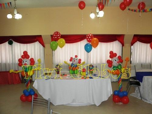 Decoración de cumpleaños infantiles de payasos - Imagui