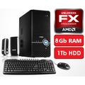 Pc Computadora Diseño Juegos Amd X6 8gb 1tb - En La Plata