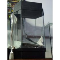 Acuario Hexagonal Mainar Con Tapa Y Base N° 1