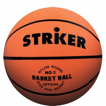 Pelota De Basquet N 5 Striker Basket Goma Vulcanizada Mini