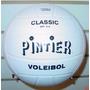 Pelota Voley Pintier Classic Cuero Sintetico Blanco