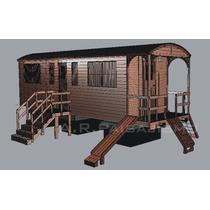 Vagon Infantil Para Juegos De Madera Con Deposito Copia Tren