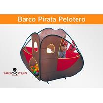Barco Pirata Pelotero Autoarmable +10 Pelotitas Dia Del Niño