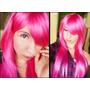 Peluca Larga Lacia Rosa Chicle - Cosplay, Disfraces