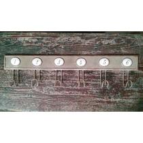 Perchero Chapa De Hierro Estilo Antiguo Números De 6 Ganchos
