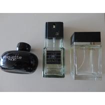 Lote 3 Frascos De Perfume De Hombre Importados Vacios