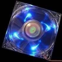 Cooler Gamer Turbina Transparente Luz Azul Netmak