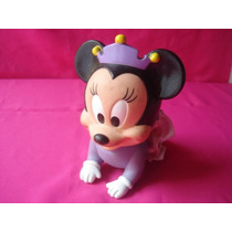 Minnie Mouse Bebe Disney Original Muñeca De Goma Con Chifle