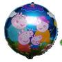 Set X 10 Globos Metalizados Peppa Pig Cerdita Favorito 45 Cm