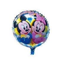 Set X 10 Globos Metalizados Mickey Y Minnie Bebes 45 Cm