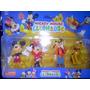 Set X 4 Muñecos Mickey Mouse, Minnie, Pluto Y Goofy!