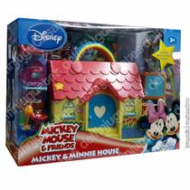 Mickey Minnie House Casa Con Muñecos Y Accesorios