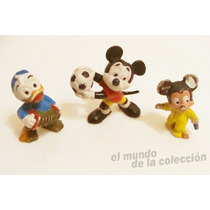 Disney Mickey Donald Muñecos Antiguos Lote X3 Goma