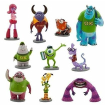 Monsters University Set X 10 Muñecos Sulley Mike Pixar Inc.