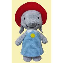 Ella La Elefanta Peluche Muñeco Tejido Grande! Crochet