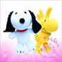 Snoopy + Woodstock Muñecos Artesanales Ambos Grandes!!!