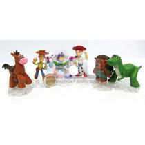 Toy Story X12 Figuras C/ Bases Adorno Torta Buzz Woody Envío