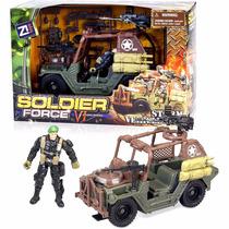Jeep Camion De Guerra Con Persona Armas De Guerras Accesorio