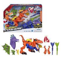 Muñeco Hero Mashers Jurassic World Tiranosaurio Original