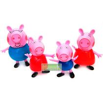Peppa Pig Blister Cerrado X 4 Figuras Ideal P/torta O Jugar