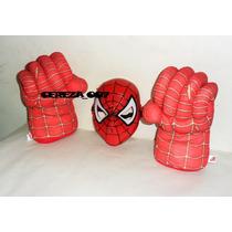 Puño Set De Puños Gigante De Spiderman + Mascara Con Luces