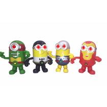 Set De Minion De 4 Juguetes Con Luz En Los Ojos Super Heroes