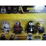Set Minions Star Wars Heroes X 4 Decoración Adorno Tortas