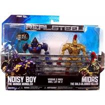 Real Steel Gigantes De Acero (noisy Boy Vs Midas) 13 Cm Luz