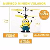 Minion Volador Helicóptero Luz Recargable Usb Sensor Novedad
