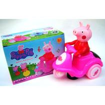 Moto Peppa Pig C/movimiento Luces Y Sonidos