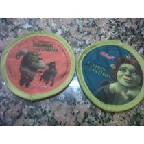 Shrek Y Fiona 2 Tazos De Tela De La Pelicula Shrek3