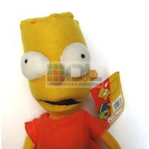 Peluche Bart Simpson Importado Etiqueta 30cm Fotos Reales